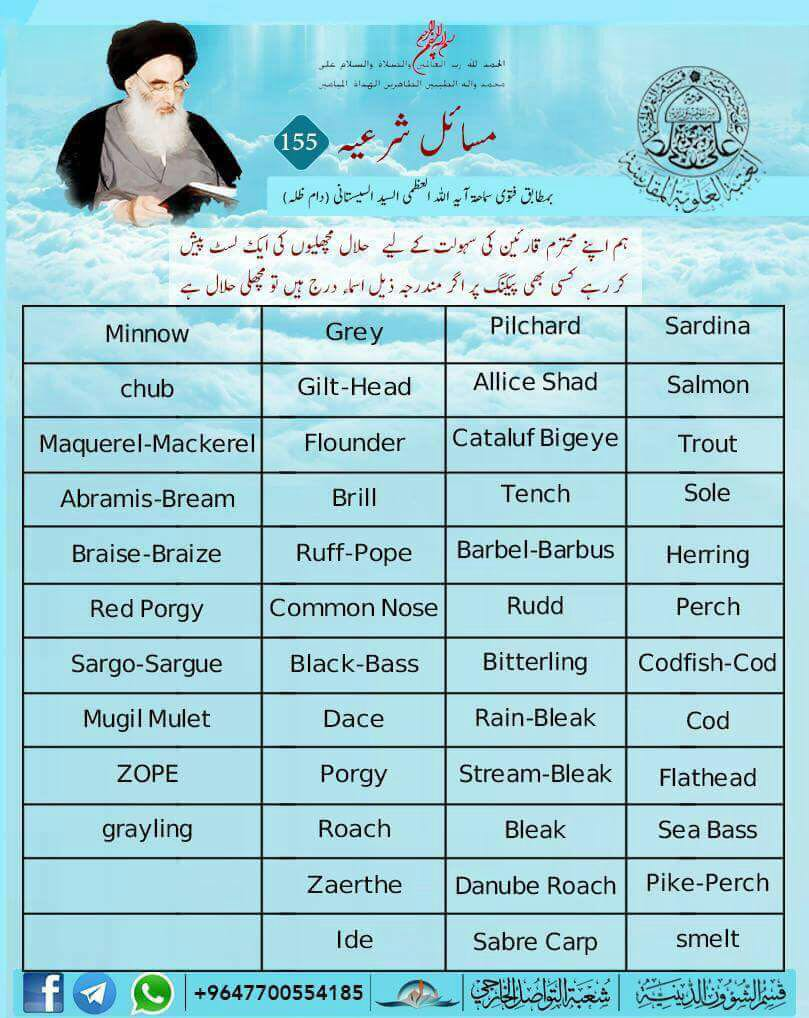 Halal haram food drink fish islamic laws for List of fish to eat